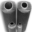 Extruded high finned tubes